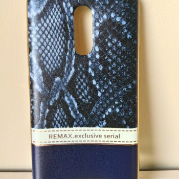 """Силиконовая накладка Remax с золотой окантовкой """"Питон черный"""" Exclusive  для Xiaomi Redmi Note 3"""