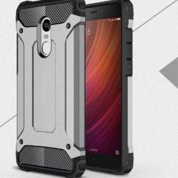 """Бронированый чехол для Xiaomi Redmi Note 4 """"Armor"""" светло-серый"""