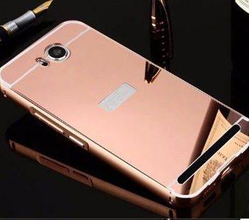 Зеркальный чехол для Huawei Y3 II розовое золото