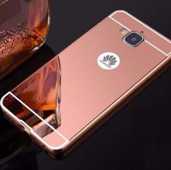 Зеркальный чехол для Huawei Y5 II розовое золото