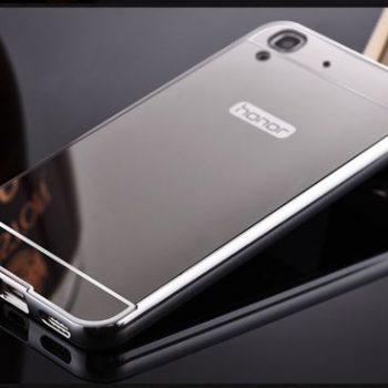 Зеркальный чехол для Huawei Y6 II серебрянный