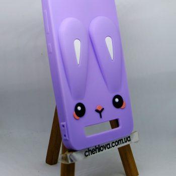 Чехол для Xiaomi Redmi 4a Кролик фиолетовый плоский 3D