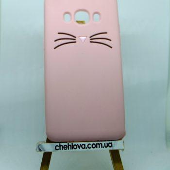 Чехол для Samsung J7 (2015) J700  Кот розовый 3D