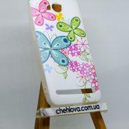 """Чехол для Huawei Y3 II """"Прованс"""" бабочки-цветочки (силикон)"""