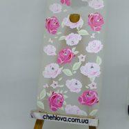 """Чехол для Huawei Y7 """"Прованс"""" белые и розовые розы (силикон)"""