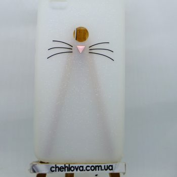 Чехол для Xiaomi Redmi Note 5A Prime Кот белый 3D