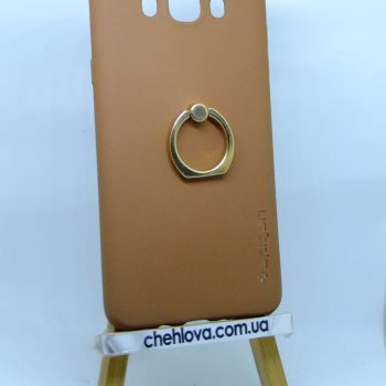 Чехол Spigen кольцо Samsung J710 (Коричневый)