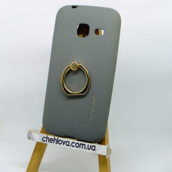 Чехол Spigen кольцо Samsung J105 (Серый)