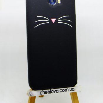 Чехол для Huawei Y5 II (CUN-U29) Кот черный 3D