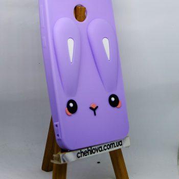 Чехол для Xiaomi Redmi Note 5 Prime Кролик фиолетовый плоский 3D