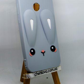 Чехол для Xiaomi Redmi Note 5 Prime Кролик серый плоский 3D