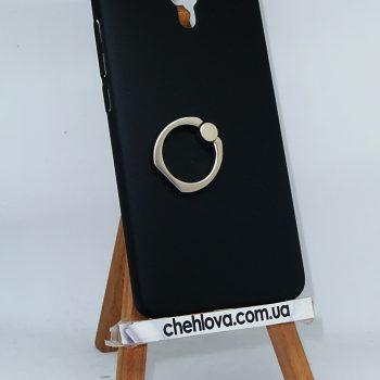 Чехол для Meizu M5s Пластик с кольцом черный