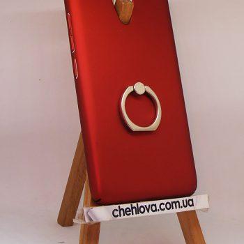 Чехол для Meizu M5 Note Пластик с кольцом красный