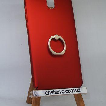 Чехол для Meizu M6 Note Пластик с кольцом красный