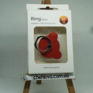 Кольцо-держатель IRING мишка красный