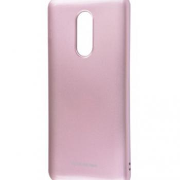 Чехол для Xiaomi Redmi 5 Plus Molan Cano Glossy Jelly розовое золото