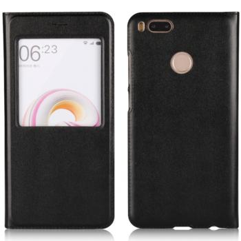 Чехол для Xiaomi Mi A1/Mi5X Книжка пластик+окошко черная