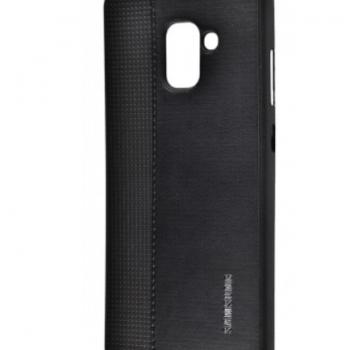 Чехол для Samsung Galaxy A8 2018 (A530F) Label Case Leather+Perfo черный