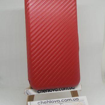 Чехол книжка Premium карбон Xiaomi Redmi Note 4X (Красный)
