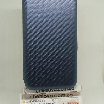 Чехол книжка Premium карбон Xiaomi Redmi Note 4X (Синий)