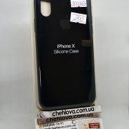 """Чехол для iPhone X """"Apple Silicone Case"""" (реплика) (18) черный"""