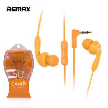 Наушники Remax Candy 505 оранжевые