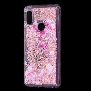 Чехол жидкие блестки Fashion для Huawei P Smart (2019) POT-LX1 / Honor 10 Lite (HRY-LX1) Сакура (переливається)