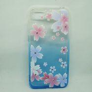 """Чохол Glamour Ambre для IPhone 7 """"Квіти сині"""""""