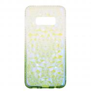 Чохол-накладка BRILIANT STYLE для Samsung S10 Plus біло-зелений
