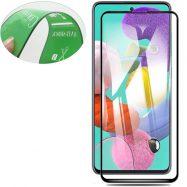 Захисне скло Ceramics для Samsung A51 глянцеве з чорною рамкою