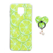 Чохол TPU Print with Ring для Xiaomi Redmi Note 9s/Note 9 Pro/Note 9 Pro Max Лайм